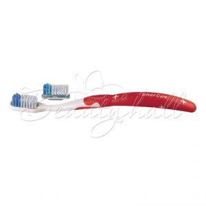 """Зубная щетка """"Silver Care Plus средней жесткости со сменной головкой"""